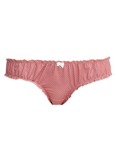 Defacto –Fit Puantiyeli Bikini Külot Pembe